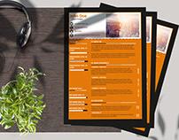 Black and Orange Resume Layout