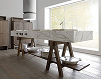 Lando Convivio: Collection of Modular Italian Kitchens