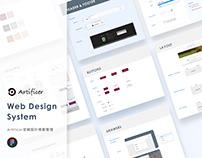 WEB|Artificer官網Design Guideline