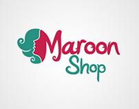 Maroon Shop Logo & Identity