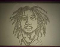 Bob Marley Etch a Sketch