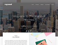 Vxceed Web Redesign Concept