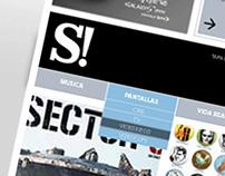 Web del suplemento Si! . Diario Clarín