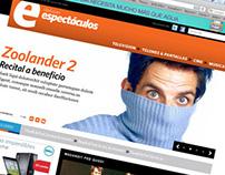 Sitio web del suplemento Espectáculos . Diario Clarín