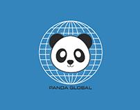 Panda Global - A panda themed logo
