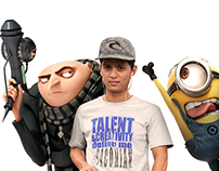 with minions