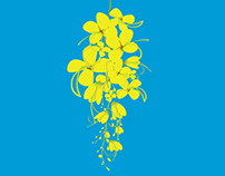 Vishu flower illustration