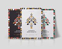Minimal Geometric Christmas Card