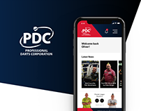 Professional Darts Corporation - App Design