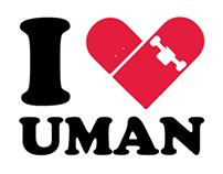 UMAN.RO Sticker Desing #2: iSk8UMAN