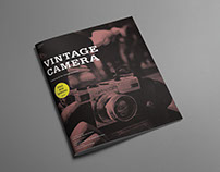 Magazine design for vintage camera