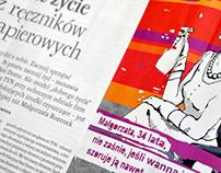 Illustrations for the Przekrój magazine