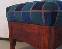 Istuinrahi, säilytyslaatikolla (stool)