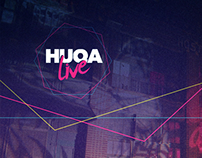 HUQA Live - Visual Identity Design