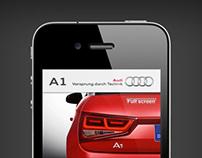 Audi A1 iPhone App UI