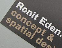 Identity design Ronit Eden. Concept & Spatial Design
