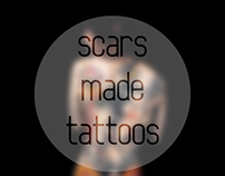 Scars made tattoos