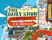 """The DAILY SHOW Commute"" MAP"