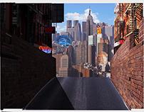 retro futuristic matte painting