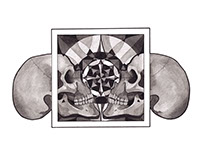 Skull mandala series