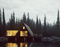 Lake house, Latvia