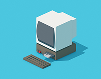 Isometric motion design for The Guardian Jobs