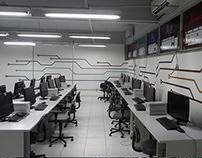 Sala de computação do curso de Desenho Industrial UFSM