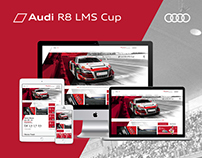 Audi R8 LMS Cup website Redesign
