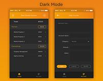 Real Estate Income App - Dark Mode