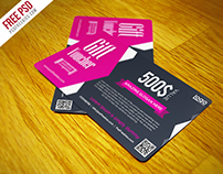 Freebie : Gift Voucher Coupon Free PSD Template