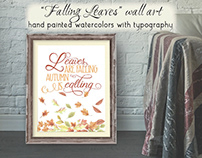 "Autumn-themed wall art: ""Falling leaves"""