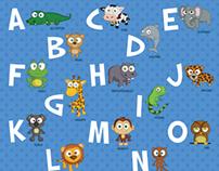 Cartoon Animal Alphabets for Kids