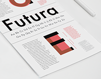 Futura: Typographic Information Poster