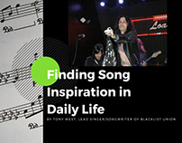 Finding Song Inspiration in Daily Life - Tony West, BLU