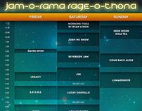 Jam-O-Rama Schedule