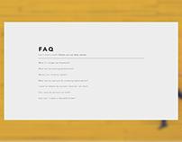 Daily UI #092: FAQ