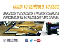 Campaña Repuestos para Chevrolet - Marketing digital