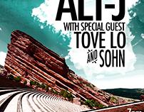 Alt-J @ Red Rocks Amphitheater concert poster