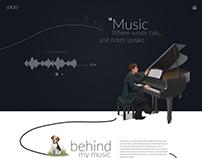 Website mock-up for music artist.