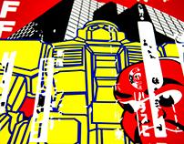 Zeefdruk Tokyo