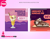 Dessert Social Media PSD Template Set