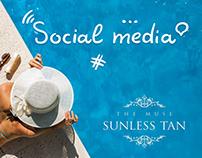 Social Media. Sunless Tan