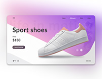 Sport shoes. Landing Page