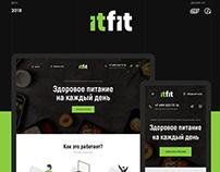 Landing page: itFit | Правильное питание
