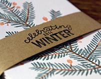 Celebrating winter | letterpress card collection