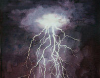 Lightning Watercolour