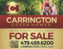 Carrington Creek Homes, Yard Sign Design