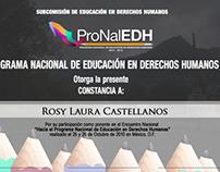 Proyecto ProNalEDH 2010-2012