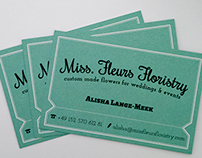 Miss Fleurs Floristry Business Cards