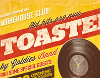 Toasted - Vintage Poster PSD